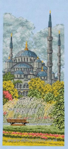 The Blue Mosque Cross Stitch Kit